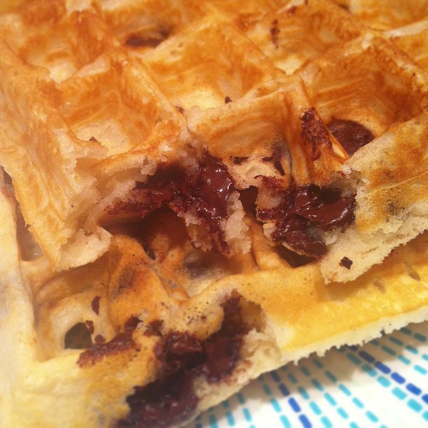 "these are the best chocolate chip waffles in the world!""-My kids"