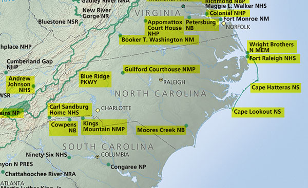FollowGreg_NC_Map_NationalParksVisited