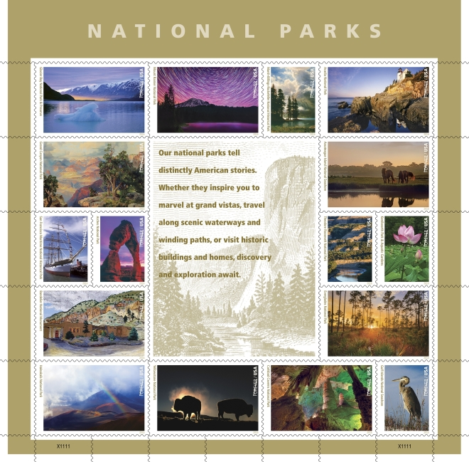 National-Park-Service-Forever-Stamps-Pane-USA